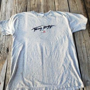 Vintage Tommy Hilfiger Spellout Flag Shirt size M